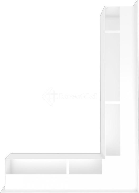 Решетка для камина Kratki Luft 45SF NP 54,7x76,6x9 белая (LUFT/NP/90/45S/B/SF). Фото 3