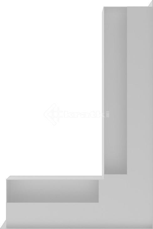 Решетка для камина Kratki Luft 45SF NP 40x60x9 белая (LUFT/NP/9/40/45S/B/SF). Фото 3