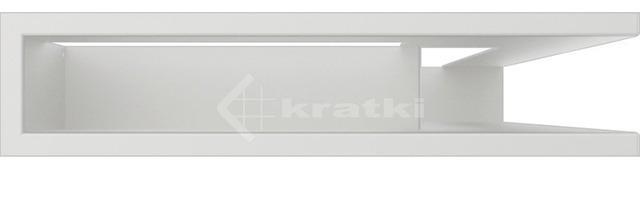 Решетка для камина Kratki Luft 45SF NP 40x60x9 белая (LUFT/NP/9/40/45S/B/SF). Фото 2