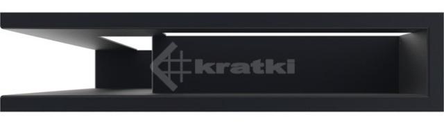 Решетка для камина Kratki Luft 45SF NL 60x40x9 графитовая (LUFT/NL/9/40/45S/G/SF). Фото 3