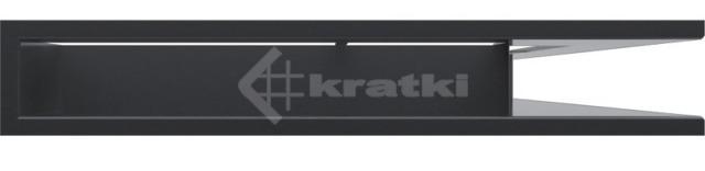 Решетка для камина Kratki Luft 45SF NP 54,7x76,6x9 графитовая (LUFT/NP/90/45S/G/SF). Фото 2