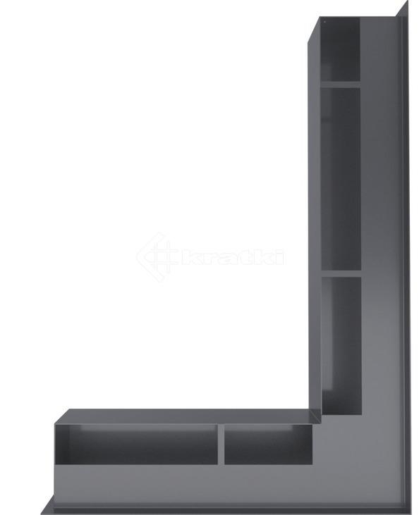 Решетка для камина Kratki Luft 45SF NP 54,7x76,6x9 графитовая (LUFT/NP/90/45S/G/SF). Фото 3