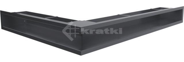 Решетка для камина Kratki Luft 45SF NP 54,7x76,6x9 графитовая (LUFT/NP/90/45S/G/SF)