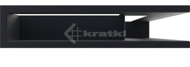 Решетка для камина Kratki Luft 45SF NP 40x60x9 графитовая (LUFT/NP/9/40/45S/G/SF). Фото 2