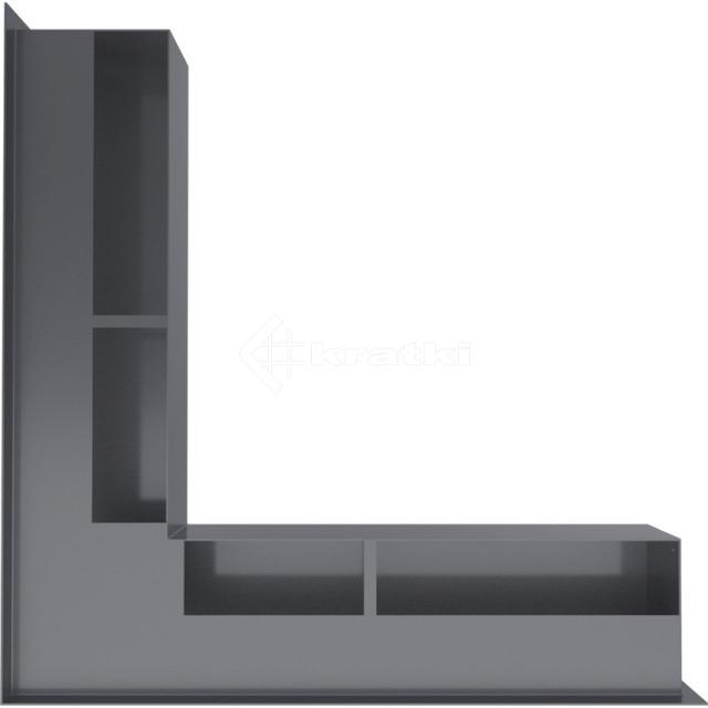 Решетка для камина Kratki Luft 45SF NS 56x56x9 графитовая (LUFT/NS/90/45S/G/SF). Фото 3