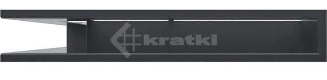 Решетка для камина Kratki Luft 45SF NS 56x56x9 графитовая (LUFT/NS/90/45S/G/SF). Фото 2