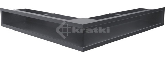 Решетка для камина Kratki Luft 45SF NS 56x56x9 графитовая (LUFT/NS/90/45S/G/SF)
