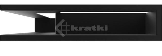 Решетка для камина Kratki Luft 45SF NL 60x40x9 черная (LUFT/NL/9/40/45S/C/SF). Фото 2