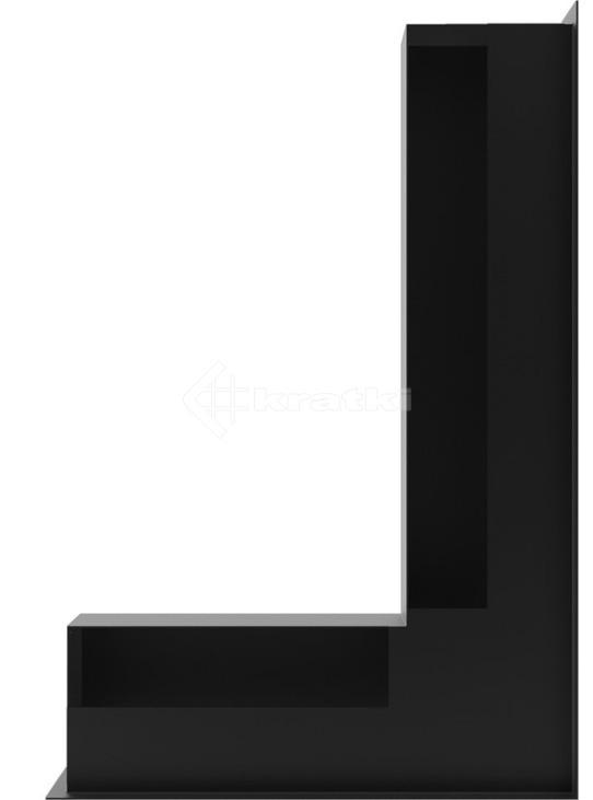 Решетка для камина Kratki Luft 45SF NP 40x60x9 черная (LUFT/NP/9/40/45S/C/SF). Фото 3