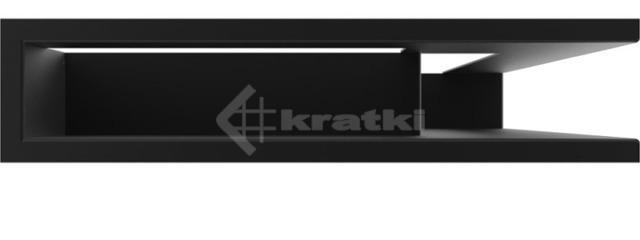 Решетка для камина Kratki Luft 45SF NP 40x60x9 черная (LUFT/NP/9/40/45S/C/SF). Фото 2