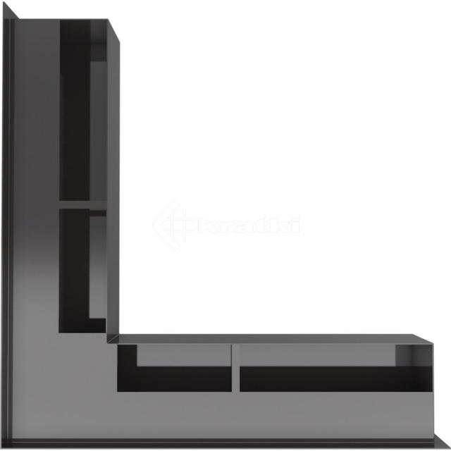Решетка для камина Kratki Luft 45SF NS 56x56x9 черная (LUFT/NS/90/45S/C/SF). Фото 3