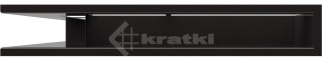 Решетка для камина Kratki Luft 45SF NS 56x56x9 черная (LUFT/NS/90/45S/C/SF). Фото 2