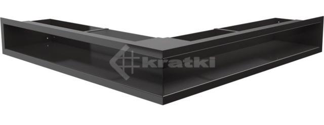 Решетка для камина Kratki Luft 45SF NS 56x56x9 черная (LUFT/NS/90/45S/C/SF)
