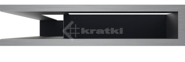 Решетка для камина Kratki Luft 45SF NL 60x40x9 шлифованная (LUFT/NL/9/40/45S/SZ/SF). Фото 2