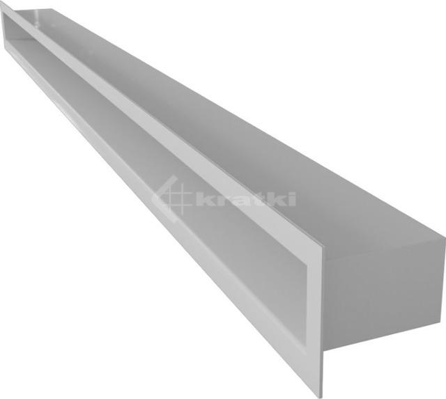 Решетка для камина Kratki Tunel 6x100 белая. Фото 2