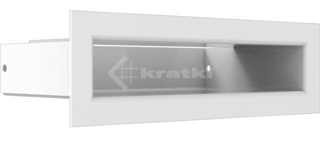 Решетка для камина Kratki Tunel 6x20 белая. Фото 3