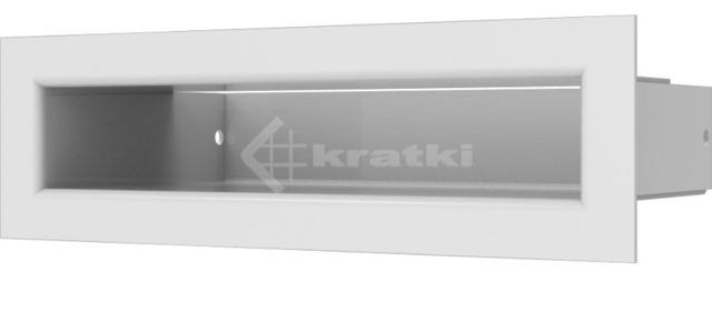 Решетка для камина Kratki Tunel 6x20 белая. Фото 2