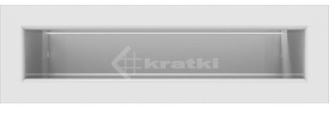 Решетка для камина Kratki Tunel 6x20 белая