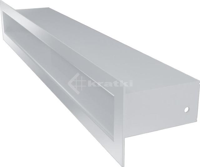 Решетка для камина Kratki Tunel 6x40 белая. Фото 3