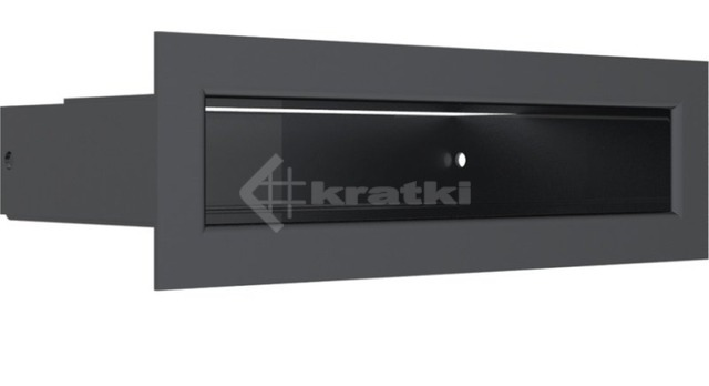 Решетка для камина Kratki Tunel 6x20 графитовая. Фото 3