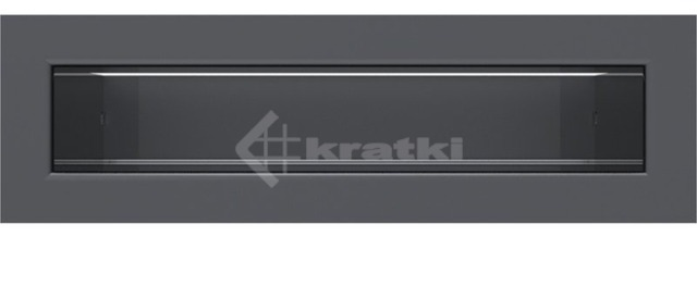 Решетка для камина Kratki Tunel 6x20 графитовая