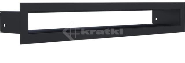 Решетка для камина Kratki Tunel 6x40 графитовая. Фото 2