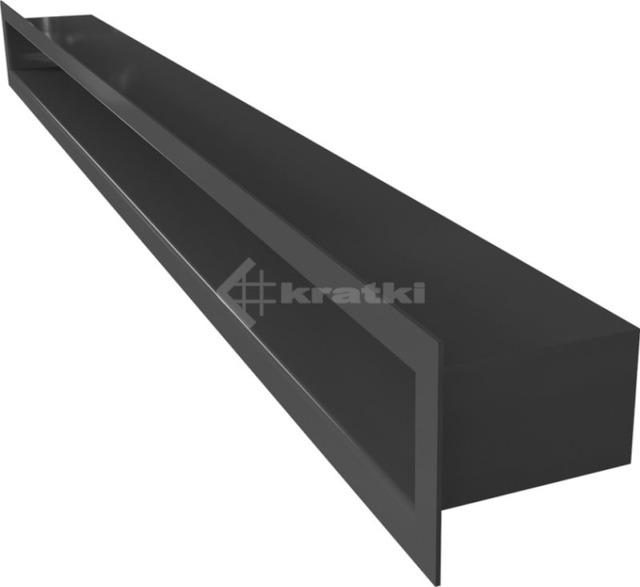Решетка для камина Kratki Tunel 6x80 графитовая. Фото 3