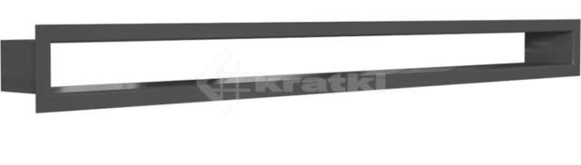 Решетка для камина Kratki Tunel 6x80 графитовая. Фото 2
