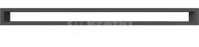 Решетка для камина Kratki Tunel 6x80 графитовая