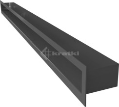 Решетка для камина Kratki Tunel 6x100 черная. Фото 3