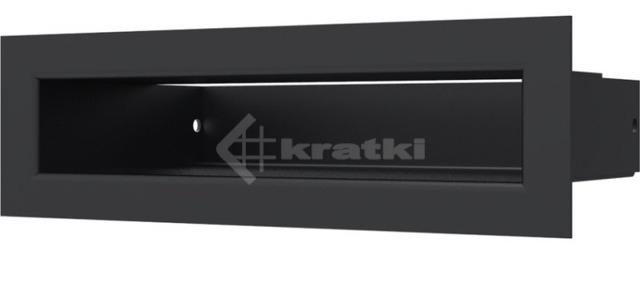 Решетка для камина Kratki Tunel 6x20 черная. Фото 2
