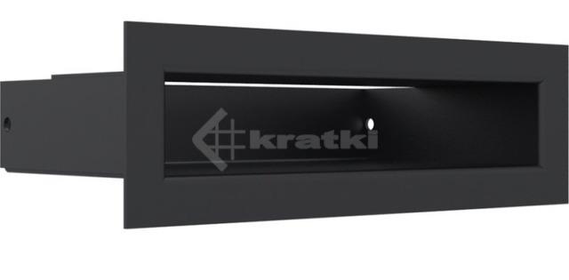 Решетка для камина Kratki Tunel 6x20 черная. Фото 3
