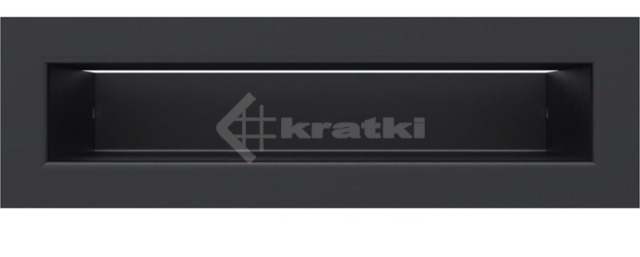 Решетка для камина Kratki Tunel 6x20 черная