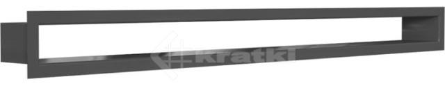 Решетка для камина Kratki Tunel 6x80 черная. Фото 2