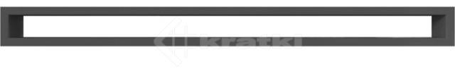 Решетка для камина Kratki Tunel 6x80 черная