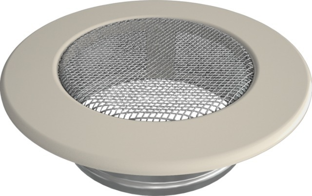 Решетка для камина Kratki круглая FI 100 кремовая. Фото 2