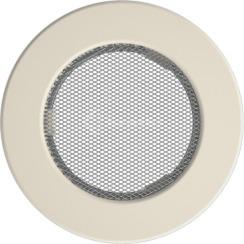 Решетка для камина Kratki круглая FI 100 кремовая