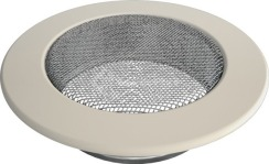 Решетка для камина Kratki круглая FI 125 кремовая. Фото 2