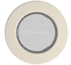 Решетка для камина Kratki круглая FI 125 кремовая