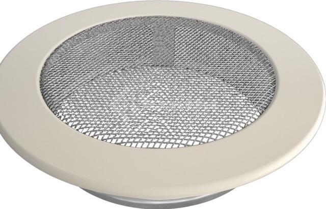 Решетка для камина Kratki круглая FI 150 кремовая. Фото 2