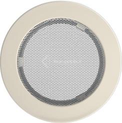 Решетка для камина Kratki круглая FI 150 кремовая