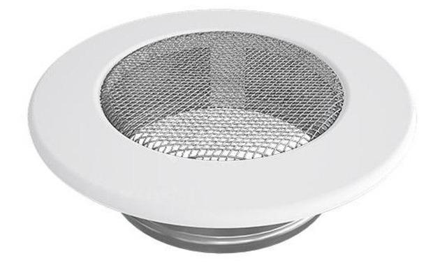 Решетка для камина Kratki круглая FI 150 белая. Фото 2
