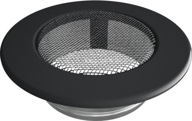 Решетка для камина Kratki круглая FI 100 графитовая. Фото 2
