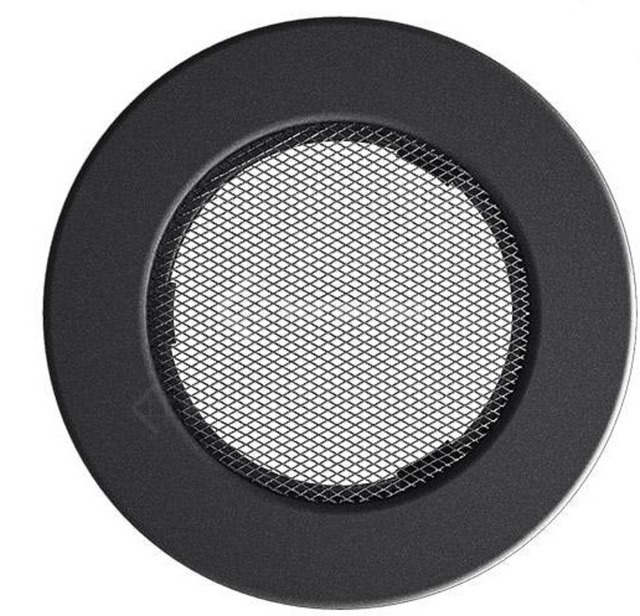 Решетка для камина Kratki круглая FI 100 графитовая