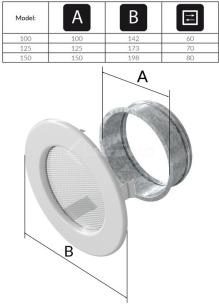 Решетка для камина Kratki круглая FI 100 графитовая. Фото 3
