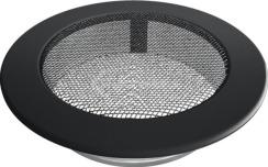 Решетка для камина Kratki круглая FI 150 графитовая. Фото 2