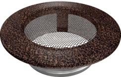 Решетка для камина Kratki круглая FI 100 медная. Фото 2