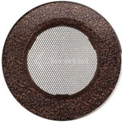 Решетка для камина Kratki круглая FI 100 медная