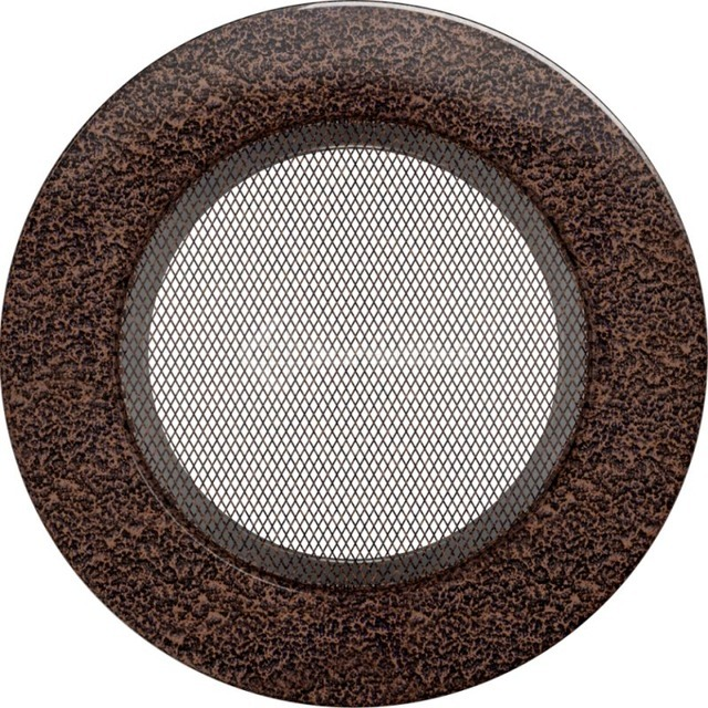 Решетка для камина Kratki круглая FI 125 медная