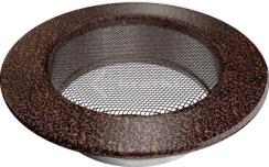 Решетка для камина Kratki круглая FI 125 медная. Фото 2